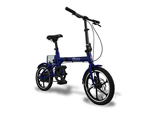 Fiat F16, Bicicletta Pieghevole Unisex – Adulto, Dark Blu, Taglia única
