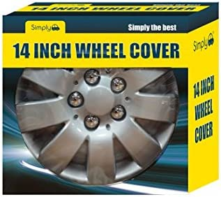 14 Inches Set of 4 Quick /& Easy Installation Universal Fit Hub Caps High-Impact Plastid Simply SWT 111 Jetfire Wheel Trims Silver