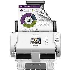 powerful Brother ADS-2700W High Speed Wireless Desktop Document Scanner, LCD Touch Screen, Duplex Scan