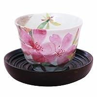 セラミック藍 花ものがたり 煎茶セット 花かおり ツツジ 煎茶セット 60003