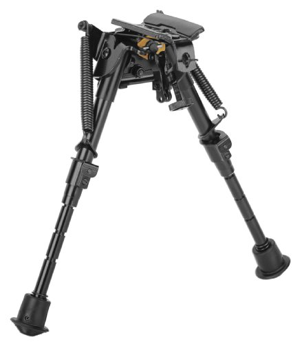 Caldwell XLA Pivot 6-9 Inch Bipod with Adjustable Notched Legs and Slim Folding Design for Easy Transport, Rifle Stability, and Target Shooting