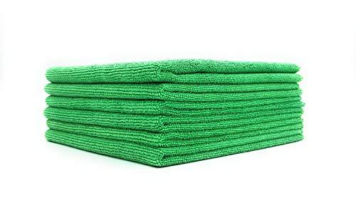 SellerKing® 6 Mikrofasertücher grün. Microfaser Reinigungstücher. Putztuch Küche fusselfrei Microfaser Tücher saugstark und schnell trocknend. 40x40 cm
