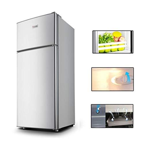 Frigoríficos mini Refrigeradores Pequeños Mini Refrigeradores con Dos Puertas For Uso Doméstico Congelador For Dos Personas Refrigeración Directa (Color : Silver, Size : 40 * 41.5 * 92cm)