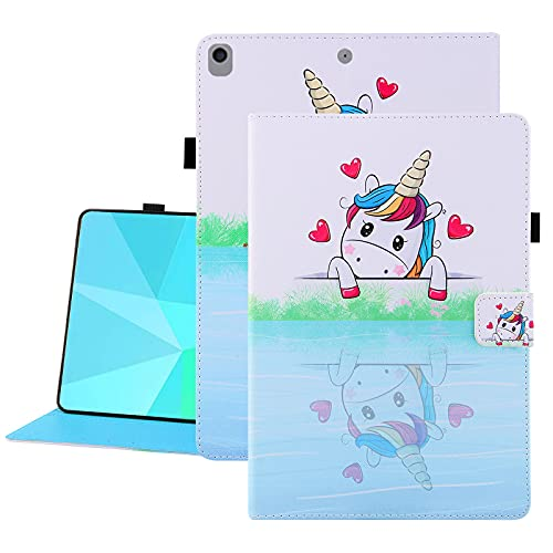Uliking SlimShell Case for iPad 10.2' 8th/7th Gen, 2020/2019, iPad Air (3rd Gen) 10.5 Inch 2019 / iPad Pro 10.5' - Lightweight Standing Cover Kids with Pen Holder & Auto Wake/Sleep, Love Unicorn
