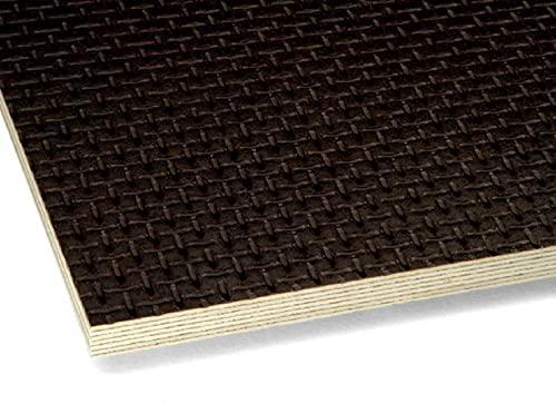 Tablero contrachapado de abedul multiplex con revestimiento de melamina, lámina fenólica contrachapada de abedul, antideslizante, diferentes grosores y tamaños (915 mm x 305 mm x 15 mm)