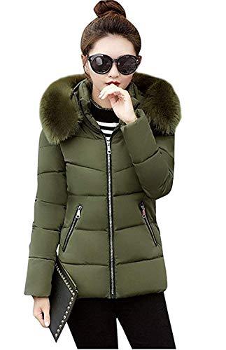 Dames korte mantel winter effen voorzakken capuchon met chic ritssluiting lange mouwen warm outwear young fashion donsjas
