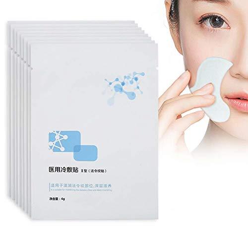 Mascarilla antiarrugas, hidratante Mascarilla facial antienvejecimiento Reparación de elevación Pliegues nasolabiales Máscara de decoloración Parches de arrugas en la frente Piel de elevación 8 piezas