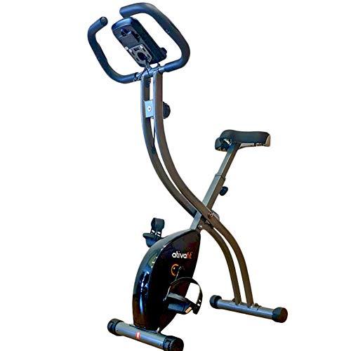 Opvouwbare Hometrainers Stationair, Indoorfiets Voor Thuis Met Dashboard, Comfortabele Hometrainer Met Tablethouder