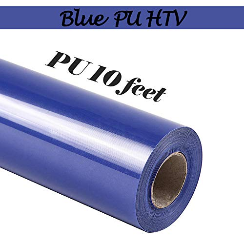 TUMIYA PU Heat Transfer Vinyl Roll for T-Shirt - Blue Iron on Vinyl Stretchy HTV Vinyl (Blue D5, 12 inch x 10 feet)