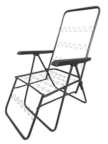Dacore Relaxsessel, mehrfach verstellbar, platzsparend klappbar, pulverbeschichtetes Stahlgestell, anthrazit
