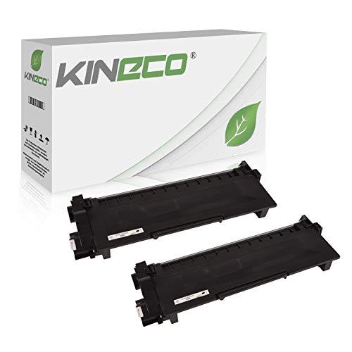 Kineco 2 Toner kompatibel für Brother TN-2320 TN2320 TN-2310 für Brother HL-L2340DW, HL-L2360DN, MFC-L2700DW, DCP-L2520DWG1, DCP-L2500D, HL-L2360DN - Schwarz je 2.600 Seiten