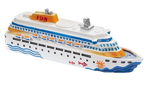 Unbekannt Miniatur Kreuzfahrtschiff 12 cm Figur Deko Urlaub Meer Schiff
