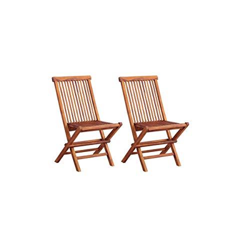 家具350 【2脚セット】 ガーデンチェア チェア 椅子 イス 庭 ベランダ バルコニー チークナチュラル 78099