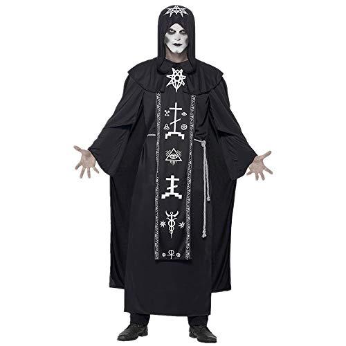 Xwenx Disfraz de mago para parejas, disfraz de cosplay, disfraz de Halloween, disfraz de cosplay, disfraz de anime, disfraz de hombre, XL