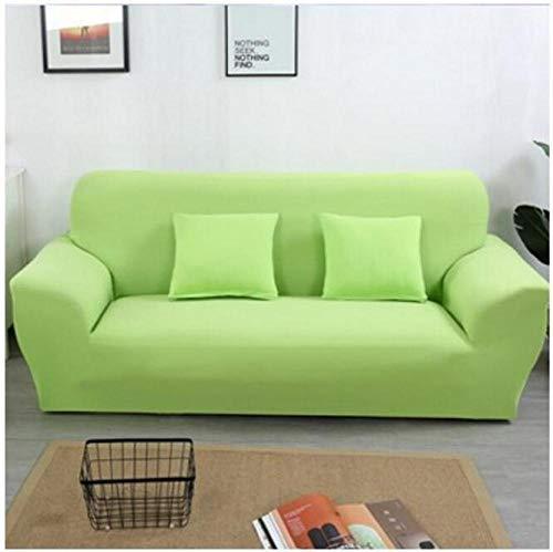 Allenger Elastic Cushion Covers,Einfarbige Stretch-Sofabezug, Vier Jahreszeiten universelle rutschfeste Sofabezug, einfarbige Möbel staubdichte Sofakissenbezug-grün_190-230cm
