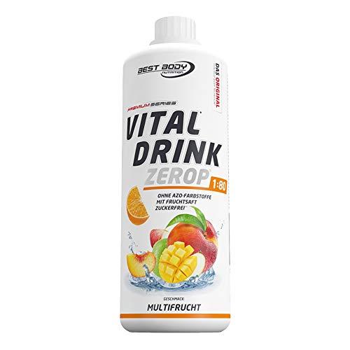 Best Body Nutrition Vital Drink ZEROP® - Multifrucht, zuckerfreies Getränkekonzentrat, 1:80 ergibt 80 Liter Fertiggetränk, 1000 ml