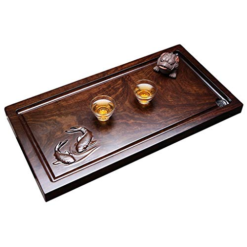 For Sale! Tea-For-One Sets Ebony tea table Household simple drainage tea tray Kung Fu tea set Tea tr...