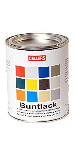 Buntlack | innovative Farbtöne |Metallfarbe für kreative Trends auf Holz und Metall | leichte Verarbeitung | wunderschöne Farbgestaltung mit Rostschutzfarbe (1 Liter, RAL 6009 Tannengrün)