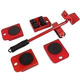 Herramientas de hardware Dispositivo móvil Herramienta móvil para manipulación de cargas pesadas Dispositivo móvil para muebles domésticos Polea de base para acuario-Negro y rojo