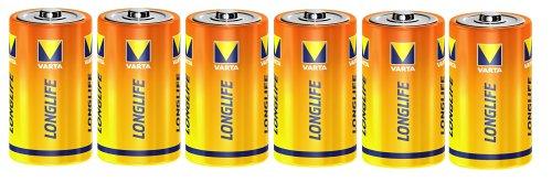 Varta (Longlife löschen)  1,5V Zink-Kohle Mono Batterien 6er Pack