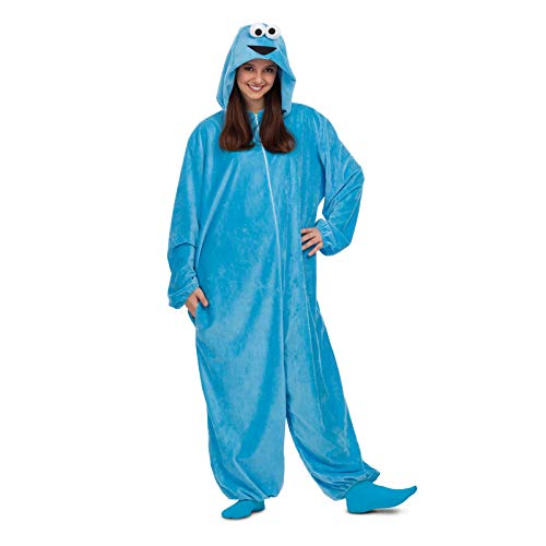 Barrio Sésamo Disfraz Pijama de Monstruo de Las Galletas para Adultos