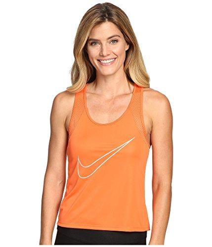 Nike Damen W Dry Tank Run Fast Leichtes Lauftanktop, Erasen Orange/Reflektierende Silber, M