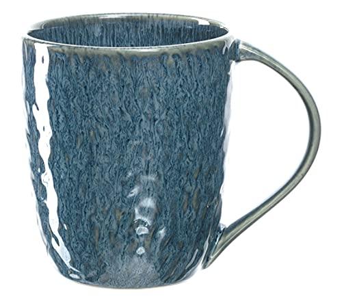 Leonardo Matera Keramik-Tasse 1 Stück, spülmaschinengeeignete Kaffee-Tasse, 1 mikrowellenfeste Tee-Tasse, Becher mit Glasur, blau 430 ml, 018548