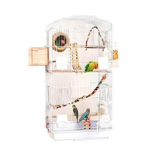Liutao Nidi Bird Villa di Grandi Dimensioni in Metallo Birdcage High Bird House Assembly Birdhouse in Legno massello for Thrush Durevole Pappagallo Nidi (Color : Wihit)