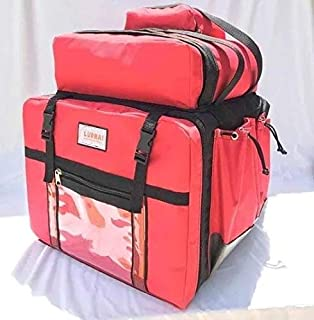 Bag Bolsa Mochila Delivery Motoboy com isopor 45 litros na cor VERMELHA
