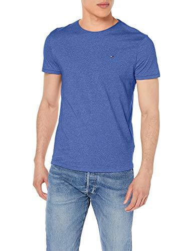 Tommy Jeans Herren Tjm Essential Jaspe Tee T shirt, Providence Blau, Medium