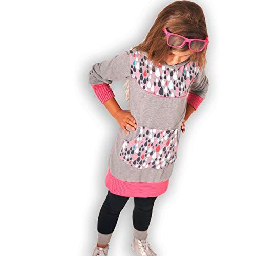 leni pepunkt Schnittmuster Kapuzenpullover Kinder zum Nähen mit Kurzanleitung in den Größen 50/56-158/164 und Webetiketten