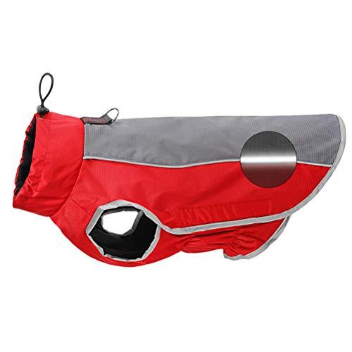 POPETPOP Hund Winter Parka Mantel wasserdicht Winddicht Winter Warmer Mantel Hund Jacke für Hunde Größe XXL (rot)