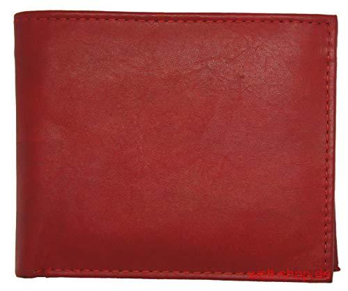 Portemonnaie aus weichem Leder Rot