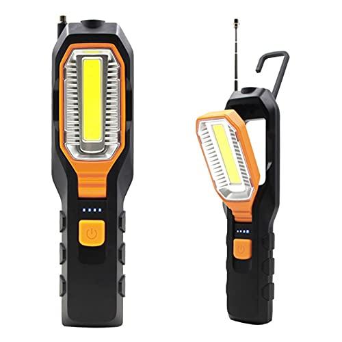 WOERD Linterna de Trabajo, LED COB Luz de Trabajo, Súper Brillante Linterna Taller, Recargable 30W Portátil Lámparas de Inspección con Magnético para Coche Hogar Camping Emergencia