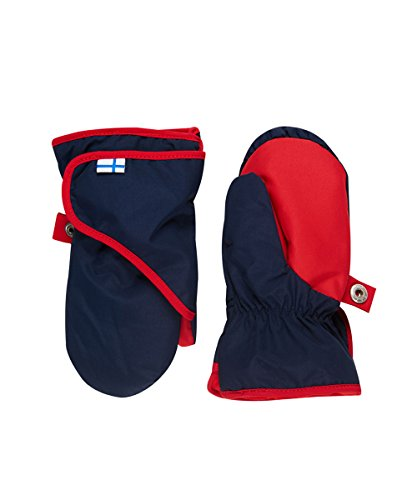 Finkid Lapanen navy red Kinder Winter Handschuhe