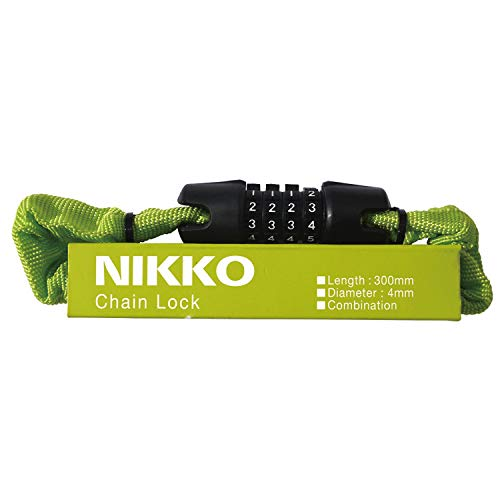 ニッコー(NIKKO) チェーンロック [N658C300/Φ4×300mm] キャンパスグリーン