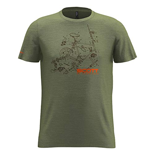 Preisvergleich Produktbild SCOTT T-Shirt Tee Herren 10 Graphic Dri s / sl Green Moss M