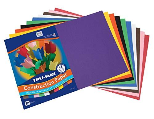 Tru-Ray Construction Paper, 10 Classic Colors, 12