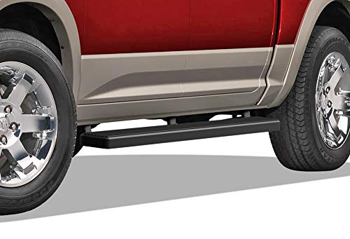 APS iBoard (Black 5 inches) 304 Stainless Steel Running Boards Nerf Bars Side Steps Rails Compatible with 2009-2018 Ram 1500 Crew Cab Pickup 4Dr & 2010-2020 Ram 2500 3500 (09-12 Drilling Required)