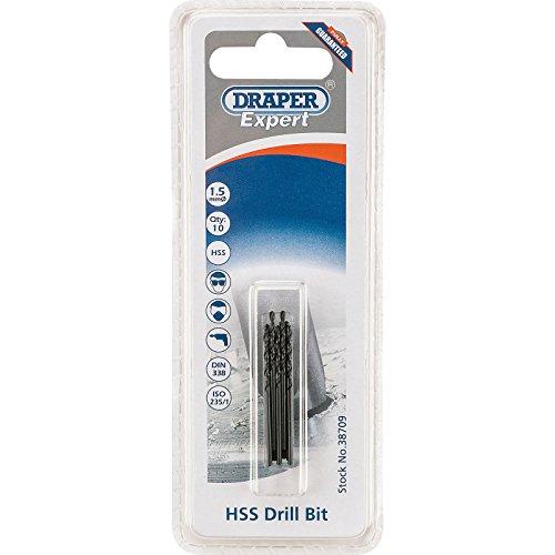 Draper 38709 Expert HSS Drill Bit, 1.5mm Ø, Pack of 10