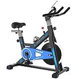 cycool Exercise Bike Belt Drive Stationary Bike Indoor Cycling Bike with Ipad Stand,Comfortable Seat Cushion,LCD Monitor (S4)