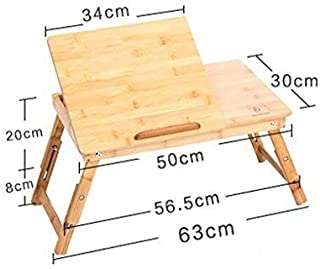 HLR-Laptop table Table Wood Computer Desk Bed Fold Lazy Portable Notebook Small Desk Portable Small Table Lapdesks Laptop table Size : 806035cm Size : 70 50 30cm
