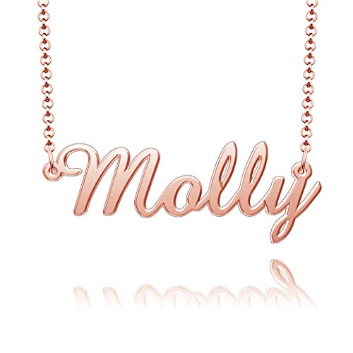 CandyCharms Necklace Custom Name Sterling Silver Women Personalized Celtic Healing