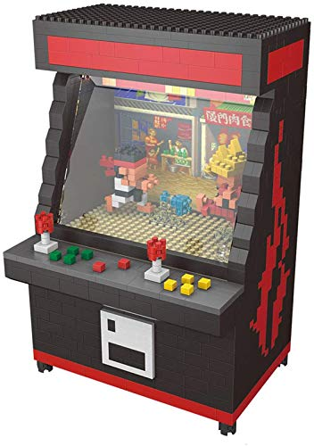 RSVT Luchando Videojuegos Negro Máquina 3D Modelo 1060Pcs Mini DIY Diamond Building Bricks Blocks Kids Toy