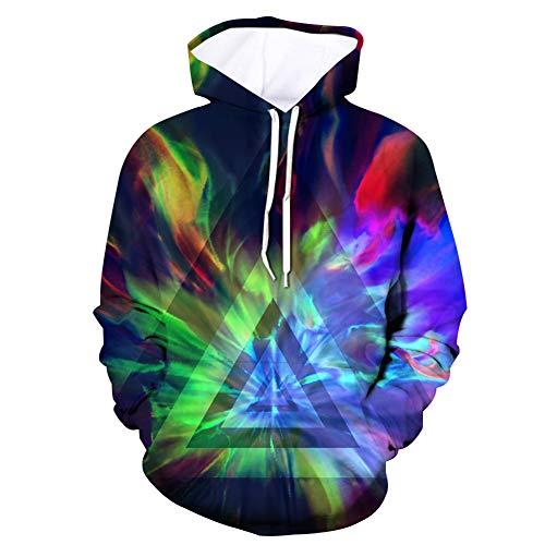ZEIYUQI hoodie heren zwart hoodie met ronde hals 3D bedrukt shirt met lange mouwen sweatshirt unisex