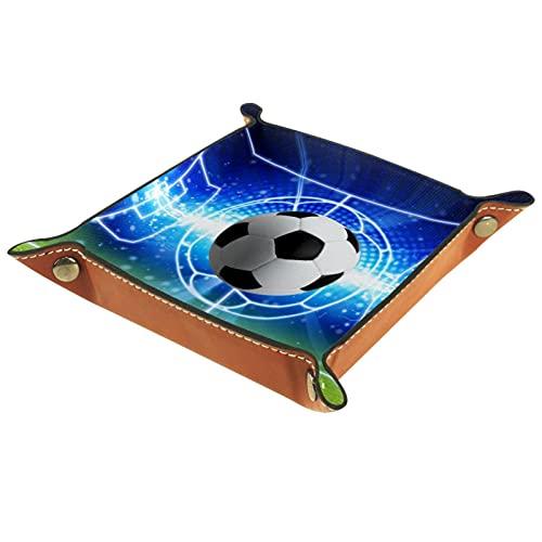 Catchall Tray Desk Organizer Valet Tray für Herren Damen Schlüsselablage für Tischmünze Aufräumen für das Büro zu Hause Elektronischer Fußball