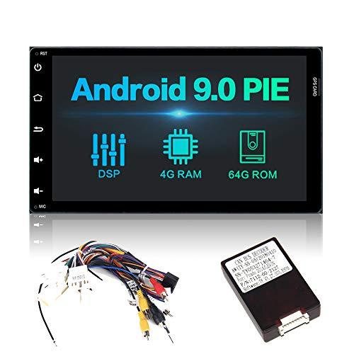 Dasaita 9 Pulgadas Android 9.0 2 DIN Unidad de Radio de Coche Integrado DSP 4G RAM 64G ROM para Toyota Corolla Sienna Arius Fortuner 2017 2018 estéreo Bluetooth Sat Nav Apoyo GPS USB Volante Control