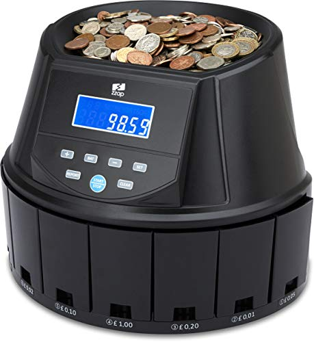 The ZZap CS30 - Automatic UK Coin Counter & Sorter - 300 Coins/Minute...
