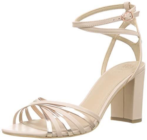 Guess Madesta2/Sandalo (Sandal)/Leat, Zapatos con Tacon y Correa de Tobillo Mujer