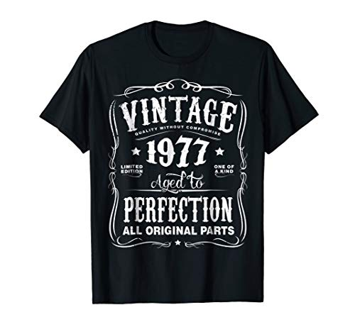 Vintage Made In 1977 T-Shirt 41st Birthday Gift